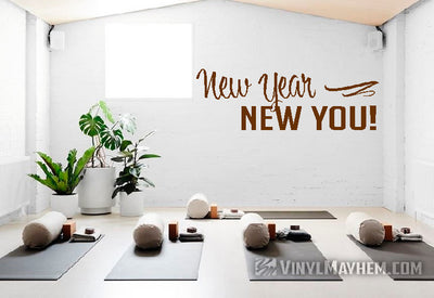 New Year New You vinyl sticker