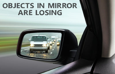 Objects In Mirror Are Losing rearview mirror vinyl sticker