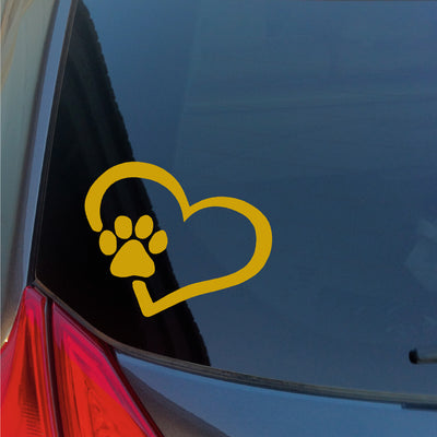 Paw in Heart vinyl transfer sticker