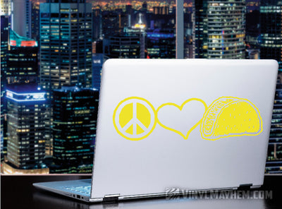 Peace Love Tacos vinyl sticker