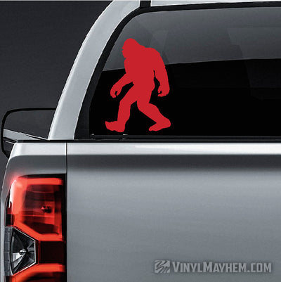 Sasquatch walking silhouette vinyl sticker