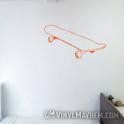 Skateboard outline vinyl sticker