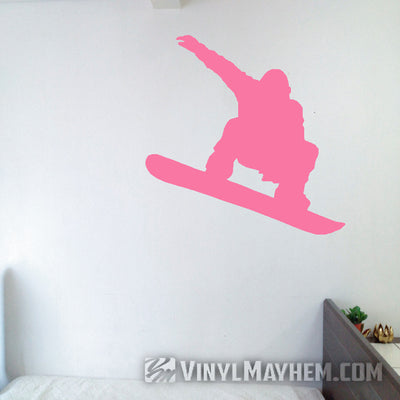 Snowboarder in air silhouette vinyl sticker