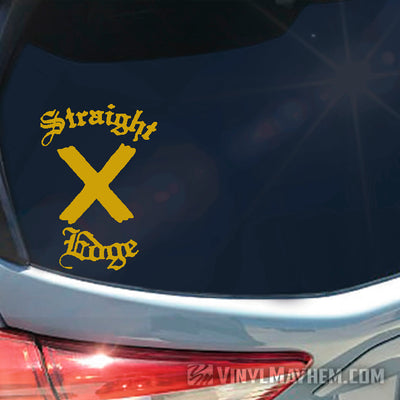 Straight Edge Old English vinyl sticker