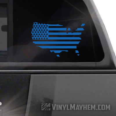 USA Flag vinyl sticker
