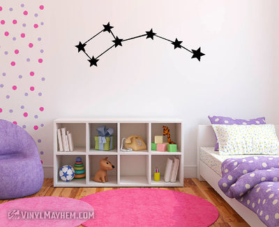 Ursa Minor Little Dipper constellation vinyl sticker