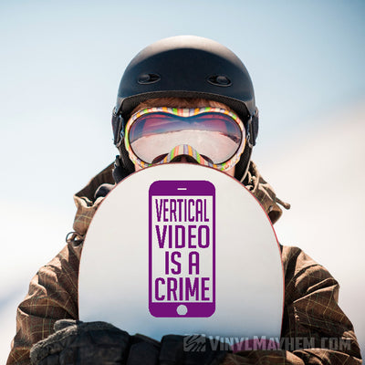 Vertical Video Is A Crime vinyl sticker
