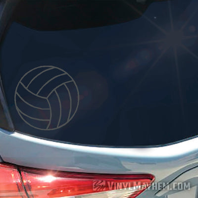 Volleyball outline vinyl sticker