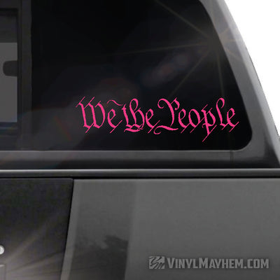 We The People vinyl sticker