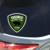 Yosemite National Park badge with bear green sticker