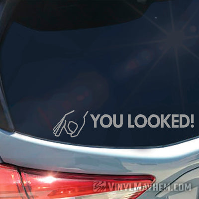 You Looked circle game vinyl sticker