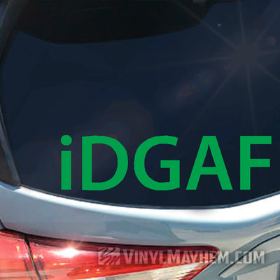 iDGAF vinyl sticker