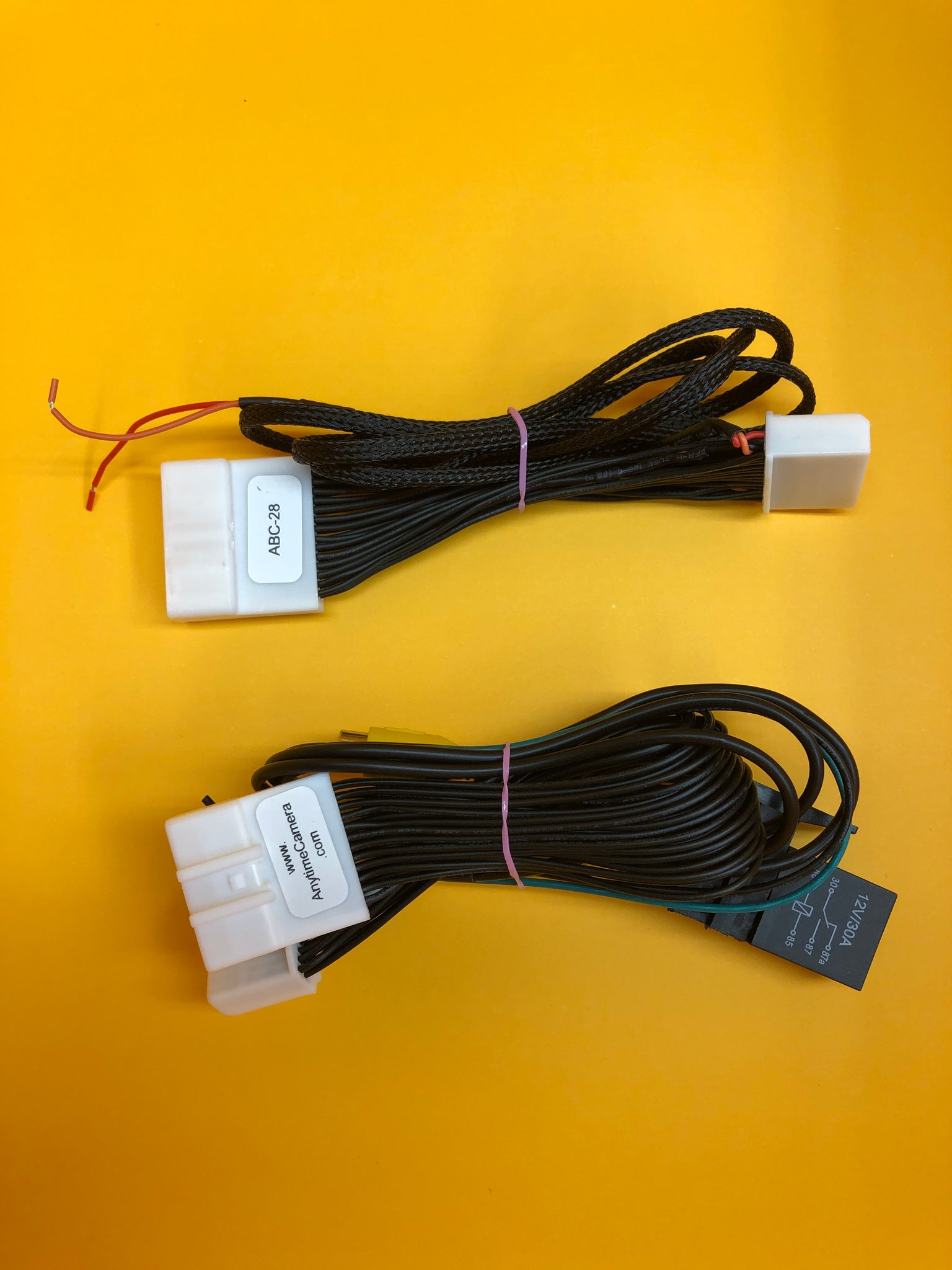 load image into gallery viewer, anytime backup camera - harness kit  components (no switch