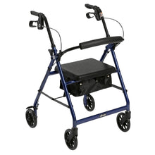 Load image into Gallery viewer, Lightweight 4-Wheel Aluminum Folding Rollator BLUE