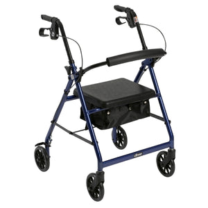 Lightweight 4-Wheel Aluminum Folding Rollator BLUE