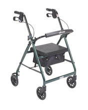 Load image into Gallery viewer, Lightweight 4-Wheel Aluminum Folding Rollator GREEN