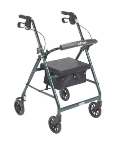 Lightweight 4-Wheel Aluminum Folding Rollator GREEN