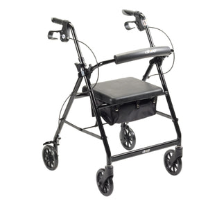 Lightweight 4-Wheel Aluminum Folding Rollator BLACK