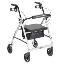 Load image into Gallery viewer, Lightweight 4-Wheel Aluminum Folding Rollator SILVER