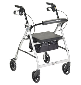 Lightweight 4-Wheel Aluminum Folding Rollator SILVER
