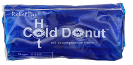 Relief pak Donut cold/hot compression sleeve , finger