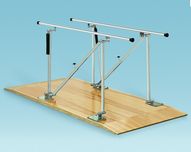 Bailey 500 Series Adjustable Height Single Operator Parallel Bars - Platform Mounted