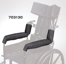 Load image into Gallery viewer, Reclining Wheelchair Backrest, Extended Full Arm - Nylon Cover