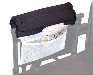Armrest Wheelchair Cushion w/Storage Pouch