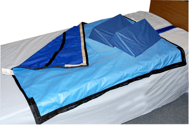 Bed System with Slider Sheet and Two Wedges