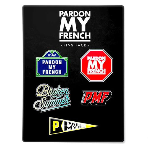 PARDON MY FRENCH PIN'S PACK (OPTION : PIN'S PACK 1)