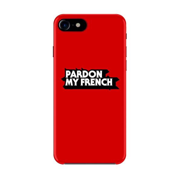 PARDON MY FRENCH SKETCH IPHONE CASE RED
