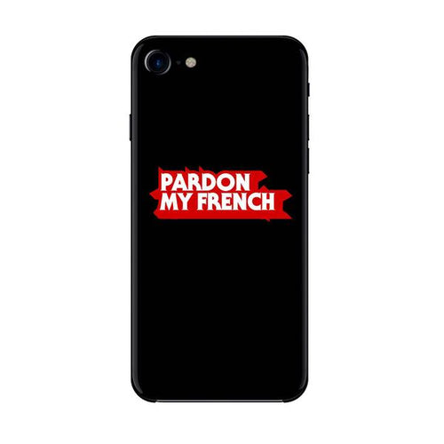 PARDON MY FRENCH SKETCH IPHONE CASE BLACK