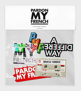 PARDON MY FRENCH PATCHES PACK (OPTION : PATCHES PACK 1)