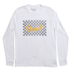 Flagged L/S T-Shirt  - White