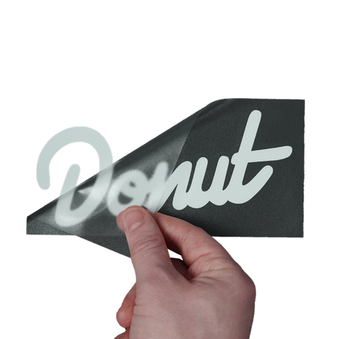 "Donut Sticker - 6"" - White"