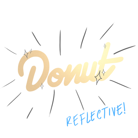 Dark Mode Donut Sticker - 6""