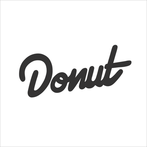 "Donut Sticker - 6"" - Black"