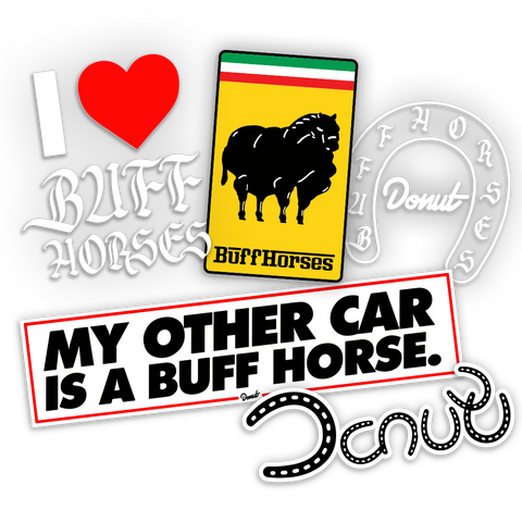 Buff Horses Sticker Pack