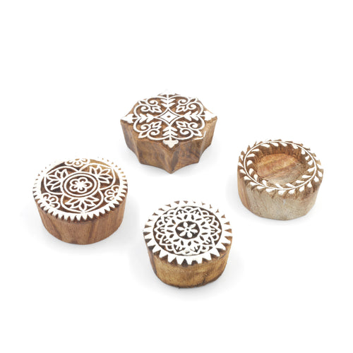 Wooden Printing Blocks - Ornate Designs