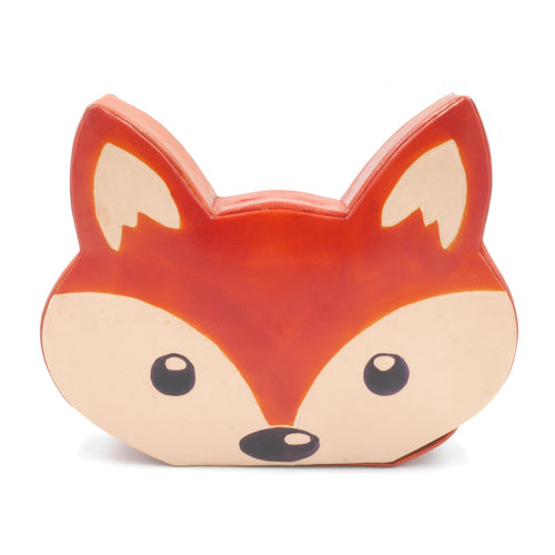 Leather Money Box - Fox