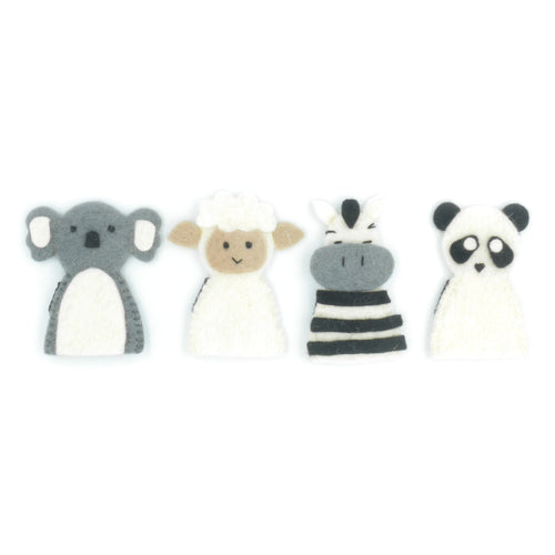 Finger Puppet Set - Zoo Animals