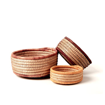 Woven Nesting Baskets - Set of 3