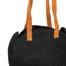 Load image into Gallery viewer, Jute Day Bag - Black