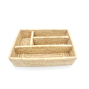 Woven Compartment Tray
