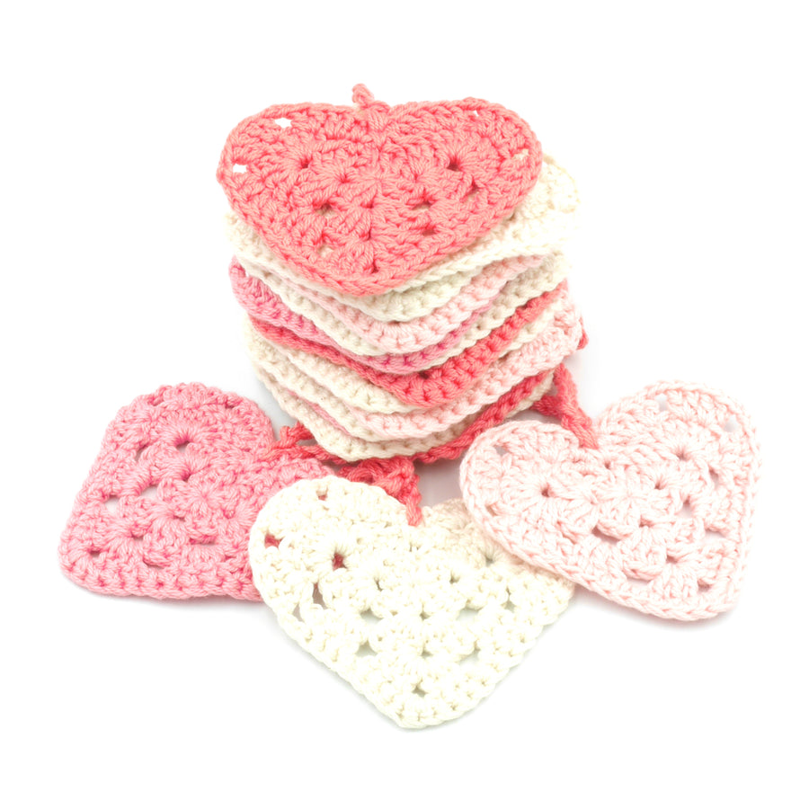 Crochet Garland - Hearts