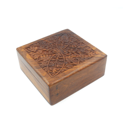 Wooden Keepsake Box - Leaf Design