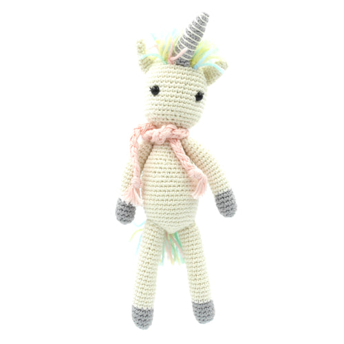 Crochet Unicorn - Grey/White