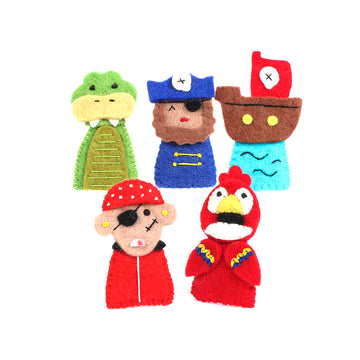 Finger Puppet Set - Pirates