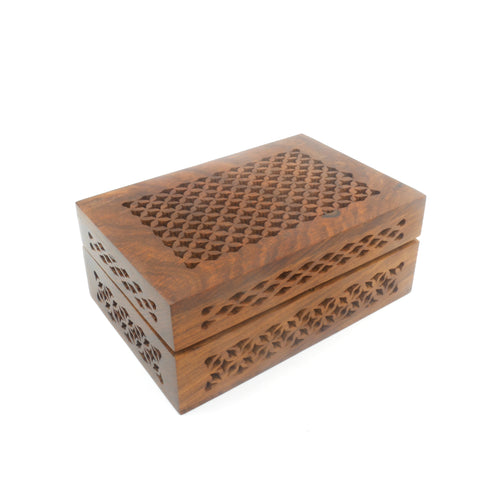 Wooden Keepsake Box - Lattice Design