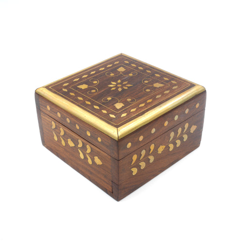 Wooden Keepsake Box - Ornate Design